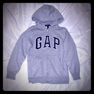 Boys Gap Grey Full Zip Hoodie